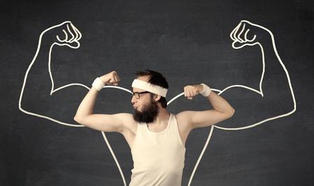 Muskelmasse-Muskelaufbau